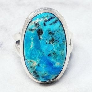 Sterling Silver and Turquoise Oval Ring